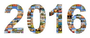 Nytt 2016, år Fotografering för Bildbyråer