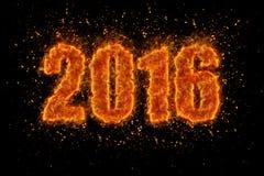 Nytt år 2016! Royaltyfri Fotografi