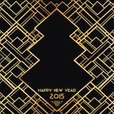 Nytt år Art Deco Card 2015 Arkivfoto