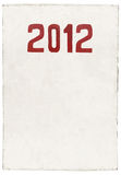 Nytt år 2012 av draken Arkivbild