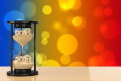 Nytt 2018 år begrepp Sand som faller i timglaset som tar Shapen vektor illustrationer