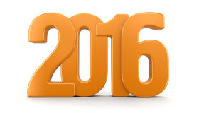 Nytt år 2016 (den inklusive snabba banan) Arkivbild