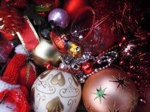 nytt år ekologiskt trä för julgarneringar Tappning _ Royaltyfria Bilder