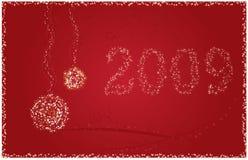 nytt år för 2009 kort Royaltyfri Bild