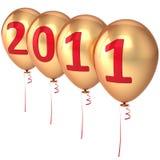 nytt år för 2011 ballonger Royaltyfri Fotografi