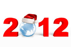 nytt år för 2012 jul Arkivfoto