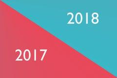 nytt år för bakgrund Gränsövergång mellan 2017 och 2018 år Arkivfoton