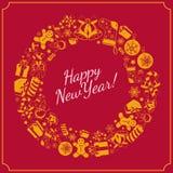 nytt år för bakgrundsferie Arkivfoto