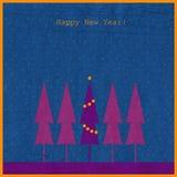 nytt år för bakgrundsgran vektor illustrationer