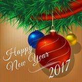 nytt år för boll Royaltyfri Fotografi