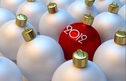 nytt år för bollar royaltyfria bilder