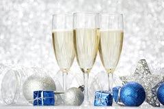 nytt år för champagne Fotografering för Bildbyråer