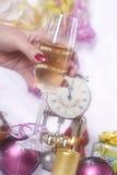 nytt år för champagnehelgdagsafton Royaltyfri Bild