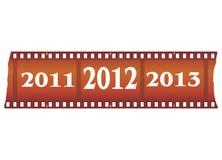 nytt år för filmstrip royaltyfri illustrationer
