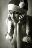 nytt år för flicka royaltyfri fotografi