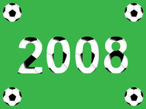 nytt år för fotboll Arkivbild