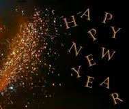 nytt år för fyrverkerier Arkivfoton