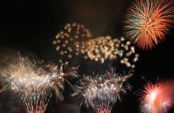 nytt år för fyrverkerier Arkivbilder