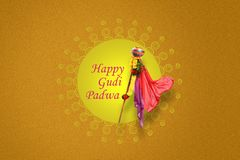 Nytt år för Gudi Padwa Marathi Royaltyfria Bilder