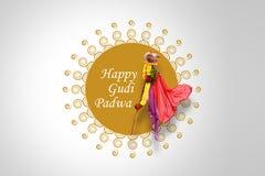 Nytt år för Gudi Padwa Marathi Arkivbild