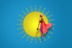 Nytt år för Gudi Padwa Marathi Royaltyfri Foto