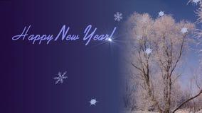 nytt år för hälsningar Royaltyfria Foton