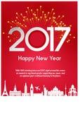 nytt år för hälsningar Arkivfoton