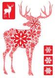 nytt år för hjortar Arkivbilder