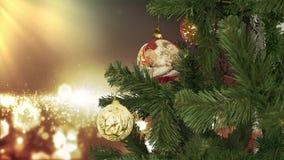 nytt år för julgarnering Abstrakt suddig Bokeh feriebakgrund Blinkagirland julbilder tänder mer min portföljtree stock video