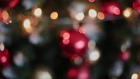nytt år för julgarnering Abstrakt suddig Bokeh feriebakgrund Blinkagirland julbilder tänder mer min portföljtree arkivfilmer