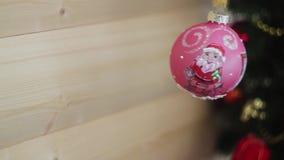 nytt år för julgarnering Suddig bokehferiebakgrund Blinkagirland Blinka för julgranljus arkivfilmer