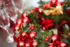 nytt år för julgarneringgirland Royaltyfri Fotografi