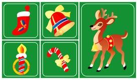 nytt år för julsymboler Arkivbild