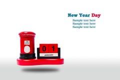 nytt år för kalenderdag Royaltyfri Bild