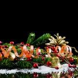 nytt år för kantjul Royaltyfri Fotografi