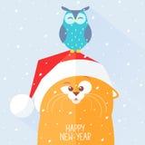 nytt år för katt Arkivfoton