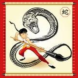 Nytt år för kinesisk orm Arkivbilder