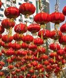 nytt år för kinesisk stad Arkivfoto
