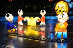 nytt år för kinesiska garneringar Royaltyfria Bilder