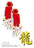 nytt år för kinesiska smällare Royaltyfri Bild