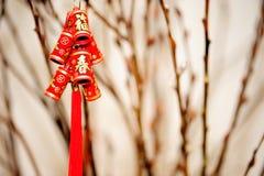 nytt år för kinesiskt objekt royaltyfria bilder