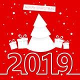 nytt år för kortjul stock illustrationer