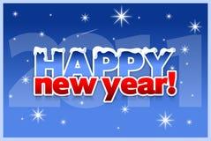 nytt år för kortjul Royaltyfri Bild