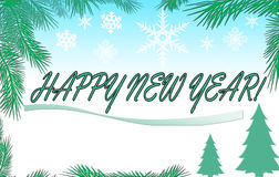 nytt år för lycklig illustration Royaltyfria Bilder