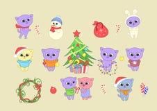 nytt år för lycklig illustration Arkivbilder