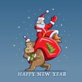 nytt år för lycklig illustration Royaltyfri Fotografi