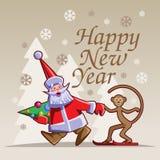 nytt år för lycklig illustration Arkivbild