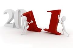 nytt år för lycklig man 2011 3d Arkivfoto