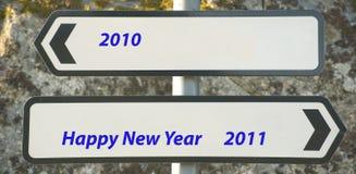 nytt år för meddelande Arkivbild