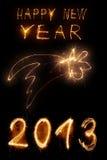 Nytt år för Sparkler Arkivbild